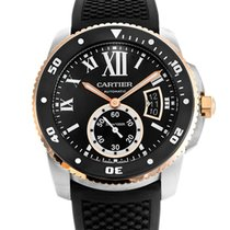 Cartier Calibre de Cartier Diver Steel & Rose Gold on Rubber