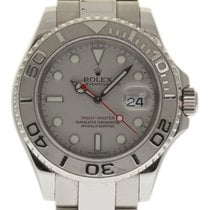 Rolex Yacht-Master 16622 40mm Steel Platinum 2012 Box/Paper/2Y...