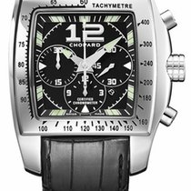 Chopard 168961-3001 Two O Ten XL in Steel - on Black Strap...
