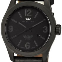 Glycine Incursore Automatic PVD Coated Steel Mens Strap Watch...