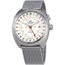Glycine Airman SST 12 Automatic Men's Stainless Steel Mesh...