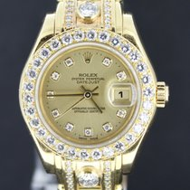 Rolex Lady-Datejust Pearlmaster 29MM, Diamond Bezel+Diamond Strap