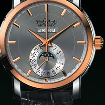 Paul Picot FIRSHIRE  RONDE  moon phase strap skin black dial grey