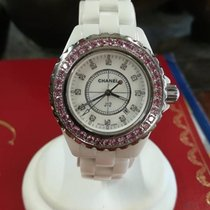 Chanel J12 Pink Sapphires Bezel & Diamonds Dial
