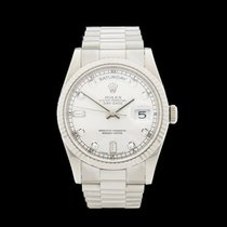 Rolex Day-Date 18k White Gold Gents 118239 - W4313