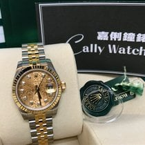 Rolex Cally - Discontinued 26mm Ladies 179173G Silver Diamond...