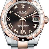 Rolex Steel-Everose Gold, Diamond Ladies Midsize 31mm Datejust...