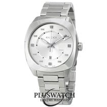 Gucci Quartz YA142308 Silver Dial Stainless Steel 41mm R