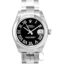 롤렉스 (Rolex) Datejust Black Dial Midsize Oyster Bracelet - 178240