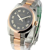 Rolex Unworn 116201 Mens 2-Tone Rose Gold Datejust with Smooth...