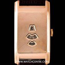 Rolex Rare 9k Rose Gold Marconi Digital Jump Hour Vintage Gents