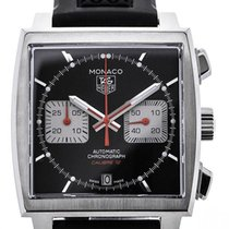 TAG Heuer Monaco Automatic Chronograph Rubber Strap Black Dial