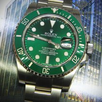 Rolex Submariner 116610 Steel Green Ceramic Mens Watch...