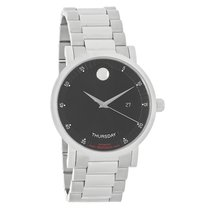 Movado Red Label Mens Black Day/Date Swiss Automatic Watch...