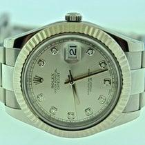 Rolex Datejust II Diamond Dial White Gold Bezel 116334