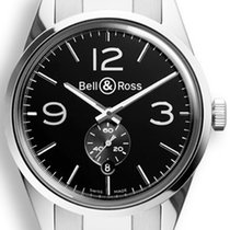 Bell & Ross Bell&Ross BR123 Officer Black mit Stahlband