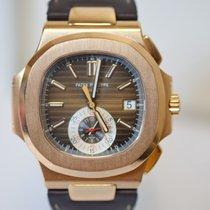 Patek Philippe Nautilus 5980R Rose Gold Leather Strap