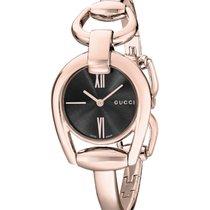 Gucci Horsebit YA139507 Rose Gold Ladies Sapphire Crystal Swiss