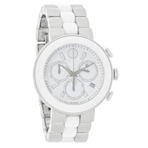 Movado Ladies Cerena White Dial Ceramic Swiss Quartz Watch...