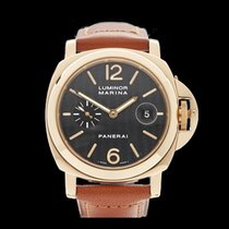 Panerai Luminor 18k Yellow Gold Gents PAM00140 - W4176