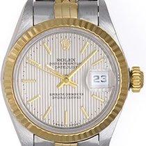 Rolex Ladies Datejust Steel & Gold Watch 69173 Silver...