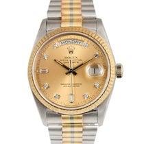 Rolex 18k Day-Date Tridor with Copper Diamond Dial, Ref: 18039