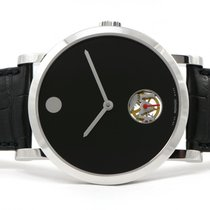 Movado New Old Stock Movado Museum 60 Skeleton Dot 18k White...