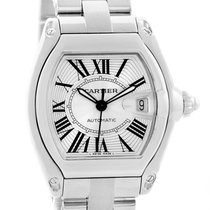 Cartier Roadster Silver Roman Dial Large Mens Watch W62025v3