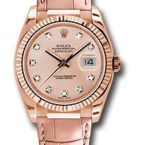 Rolex Unworn 116135 pdpl Datejust 36mm in Rose Gold - Fluted...