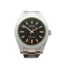 Rolex Milgauss Green Glass Stainless Steel Gents 116400GV - W3150