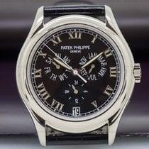 Patek Philippe 5035G Annual Calendar 18K White Gold Black Dial...