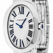 Cartier Baignoire Oval Silver Dial Quartz Women 18kt WG Watch...