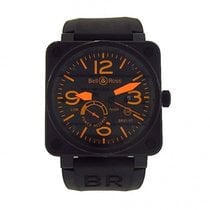 Bell & Ross BR01 BR01-97-SO Black PVD Stainless Rubber...