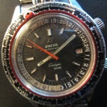 Enicar Sherpa Guide 600 GMT Lünette rot 60er Jahre
