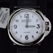 Panerai PAM00561  Luminor Base 8 Days Acciaio  White Dial