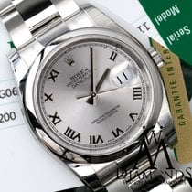 Rolex Datejust 36mm Steel Rhodium (silver) Roman Dial Oyster...
