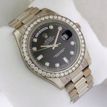 Rolex 218349 Day-Date II President 18K WG 41mm Black Diamond Dial