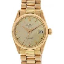 Rolex Midsize Rolex Oyster Perpetual Date 18K Rose Gold 6627