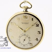 Movado Chronometre solid 14K Yellow Gold Pocket Watch 46 mm...