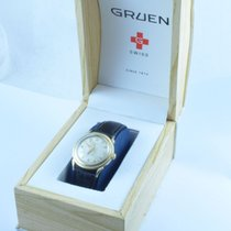 Gruen Precision Damen Uhr Handaufzug 32mm Stahl Vergoldet