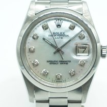 Rolex Oyster Perpetual Date Mother Of Pearl MOP Diamond Dial