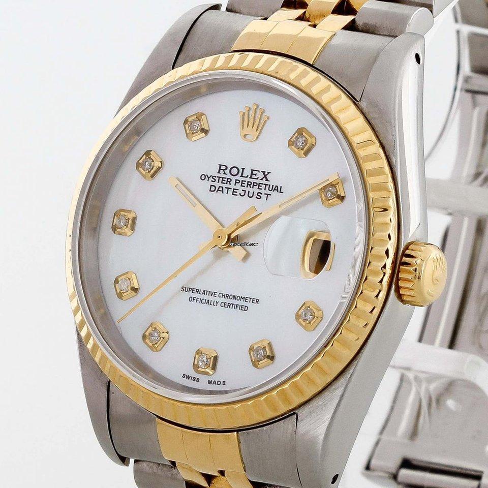 22a928e069d Rolex Oyster Perpetual Datejust 36 Edelstahl 18 K Gold mit... por 4.480 €  para vender por um Trusted Seller na Chrono24