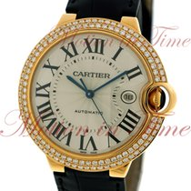 Cartier Ballon Bleu Large Automatic, Silver Dial, Diamond...