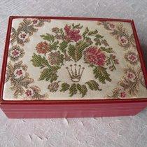 Rolex seltene große vintage Lederbox mit Blumenmotiven