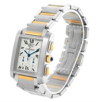 Cartier Tank Francaise Mens Two Tone Chrongraph Watch W51004q4