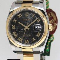 Ρολεξ (Rolex) Datejust 18k Yellow Gold/Steel Black Jubilee...
