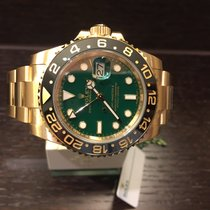 Rolex GMT Master II Yellowgold Green Dial 116718LN