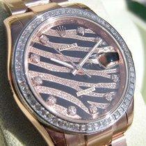 ロレックス (Rolex) Datejust 116285 Pink Gold Black Pave Diamond...
