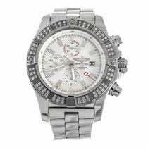 Breitling Aeromarine Super Avenger Diamond Watch A1337053...