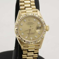 Rolex Datejust 26mm 18k yellow gold /  Pyramid Bezel / factory...
